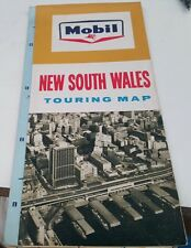 1965  MOBIL Oil Co. ROAD MAP OF NEW SOUTH WALES  Australia
