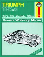 Triumph TR5 & TR6 1967-1975 Haynes Manual 0031 NEW