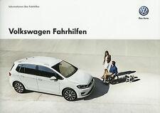Prospekt VW Fahrhilfen 10/14 Autoprospekt 2014 Broschüre Auto brochure broschyr