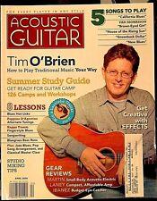 ACOUSTIC GUITAR April 2006 TIM O'BRIEN HAPPY TRAUM BLUEGRASS MARTIN IBANEZ LANEY