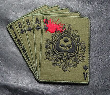 DEAD MAN'S HAND ACES OUT LAW ANARCHY MC IRON BIKER PATCH