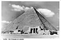CAIRO EGYPT-THE PYRAMID OF CHEOPS PHOTO POSTCARD