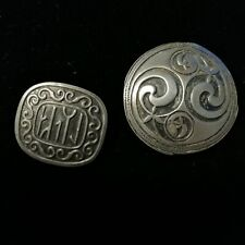 OBI Tinn Norway Brooch & St Justin Pewter Celtic style brooch