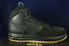 NIKE LUNAR FORCE 1 DUCKBOOT BLACK METALLIC SILVER WATERPROOF 805899 003 SZ 9