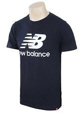 New Balance Men ESS STACK Logo Tee Shirts Training Navy Top Jersey AMT01575-ECL