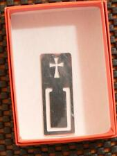 RETIRED JAMES AVERY STERLING SILVER CROSS BOOK BIBLE PAGE MARK BOOKARK WITH BOX