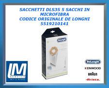 SACCHETTI DLS35 5 SACCHI IN MICROFIBRA 5519210141 DE LONGHI ORIGINALE