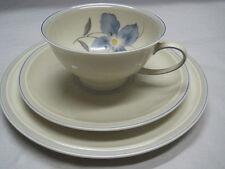"3er Teegedeck Rosenthal Selb Germany Winifred. ""Blaue Blume"" Art Deco Rar"