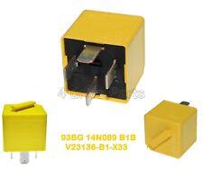 V23136-B1-X33 Genuine Ford 40A (1990-2006) Yellow Relay 4-Pin 93BG-14N089-B1B