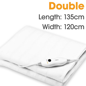 DOUBLE HEATED UNDER ELECTRIC BLANKET WITH 3 HEAT SETTINGS & UK PLUG 135 X 120 CM
