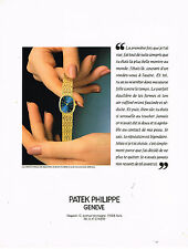 PUBLICITE ADVERTISING 064  1992  PATEK PHILIPPE  collection montre ELLIPSE