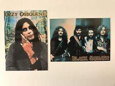 PROMO CARDS: OZZY OSBOURNE & BLACK SABBATH 1999 Cornerstone: 2 DIFFERENT P1 & P2
