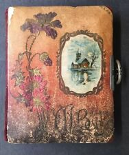 Antique Victorian Photo Album - Clasp - Colorful