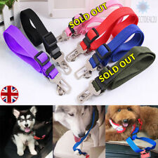 4COLOUR PET CAR SAFETY SEAT BELT HARNESS RESTRAINT ADJUSTABLE LEAD TRAVEL CLIP
