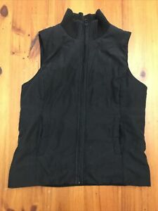 Jacque E Puffer Puffa Vest Size 12 M Quilted Black