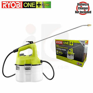 Ryobi P2800B ONE+ 18-Volt Lithium-Ion Cordless Chemical Sprayer - Bare Tool Only
