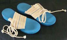 Vtg Retro 60'S/70'S Hippie, Boho Wood Bottom Sandal Made By Woods Co. Size 8 New