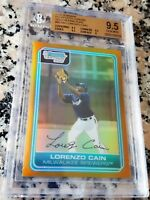 LORENZO CAIN 2006 Bowman Chrome GOLD REFRACTOR SP Rookie Card RC 15/50 BGS 9.5