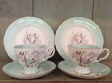 Tuscan bone china vintage Tea Trio X Two Glendale Duck Egg Blue