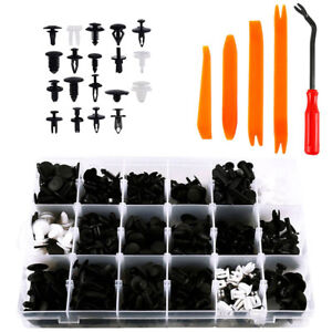 435Pcs Car Body Trim Clip Retainer Bumper Rivet Screws Panel Push Fastener Kits