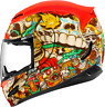 Icon Airmada Dia De Los Muertos Red Graphic Full Face Helmet