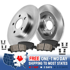Front 330 mm Brake Rotors and Ceramic Pads For 2003 2004 2005 LINCOLN AVIATOR