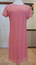 Socialite - Stretch Lace Dress or Long Top - BNWT - Size AU 10-14 - Pink