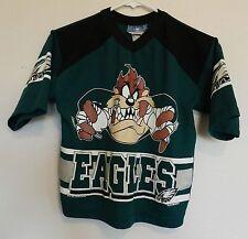 vtg Philadelphia Eagles Jersey TAZ Youth L 90s NFL football Looney Tunes shirt