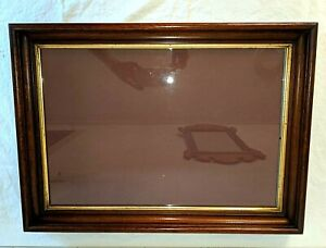 """Gorgeous Antique Victorian Walnut Wood Frame Gold Gilt Border Fits 20"""" by 14"""""""