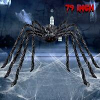 Giant Hairy Spider Halloween Decorations Scary Outdoor Decor Hanging Funny jock