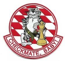 """US Navy F-14 Tomcat VF-211 """"Checkmate, Baby"""" patch"""