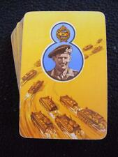 VINTAGE 1940's WW2 PACK OF PLAYING CARDS - FIELD MARSHAL MONTGOMERY DESERT RATS