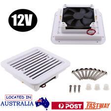 12V RV Trailer Caravan Side Air Vent Ventilation Blade Fan Cooling Low Noise