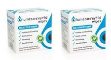 2x Lumecare Cleansing Eyelid Wipes Refreshing Cooling & Soothing 20 Wipes