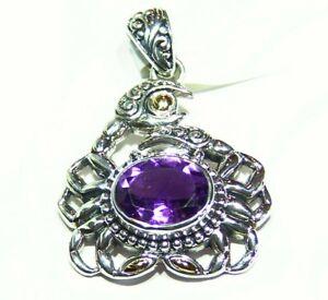 Samuel B Behnam BJC Natural Stone 18K Gold Sterling Silver 925 Vintage Necklace