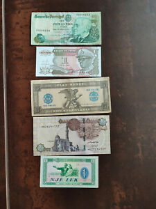 Lot 5 Different World Banknotes  !!!!!!!