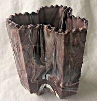 Sowerby Antique Purple Slag Glass Triple Spill Posy Vase English Antique