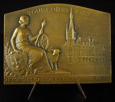Medaill shooting concours de tir Église Saint-Christophe de Tourcoing 1925 medal