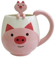 Decole Pig Manmaru Mug Spoon Set S-4070