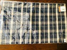 Pottery Barn Douglas Plaid Pillow Cover Lumbar Decor Blue Nautical Beige New