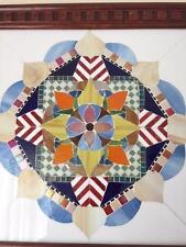 Large Stained Glass Mandala Handmade Art Mosaic