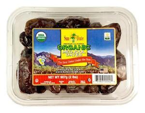 Premium Organic Fresh California Medjool Dates by Sun Date Jumbo Size 2 lbs.