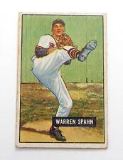 1950 Bowman Warren Spahn #19 Boston Braves Vg/Ex