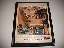 """1967 COUGAR XR-7  ANNOUNCEMENT ORIGINAL PRINT AD  ART """" MERCURY-THE MAN'S CAR"""""""