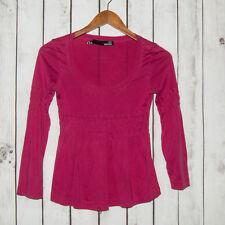 LOVE MOSCHINO Women's Scoop Neck Blouse Empire waist Pink Silk Cotton Sz 4