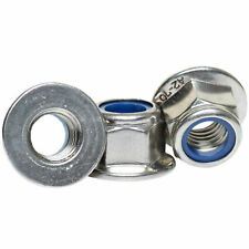 A2 304 Stainless Steel - Flange Nuts Nylon Inert Lock Nut M4 M5 M6 M8 M10 M12