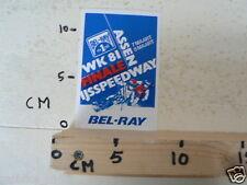 STICKER,DECAL ASSEN IJSSPEEDWAY FINALE WK 1981 HOLLAND, ICESPEEDWAY,BEL-RAY