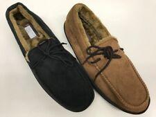 Men Winter Moccasin Slippers Soft Furry Warm Comfy Slip On Indoor Outdoor 1758