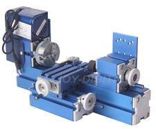 Mini Metal Lathe Machine Wood Work DIY Tools Processing Modeling Chrildren Gift