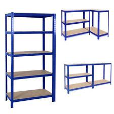 5 Tier Metal Shelf Heavy Racking Units For Garage Workshop Home Storage Bay Blue